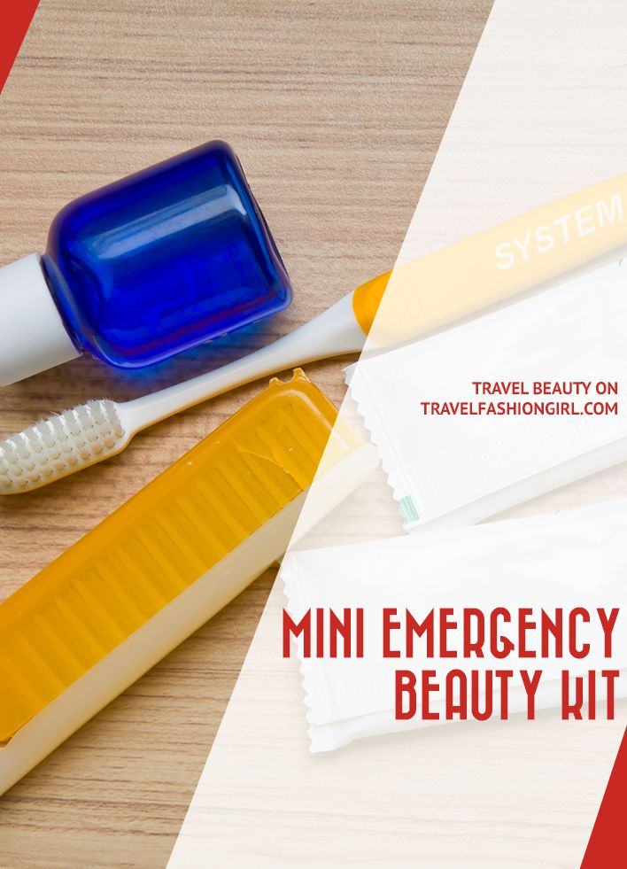 Chances are you've received a surprise visit from Aunt Flow or have snagged a nail while on the go. Be prepared with a mini emergency beauty kit like this! http://www.travelfashiongirl.com/mini-emergency-beauty-kit/ via @travlfashngirl #packing #tips #travel