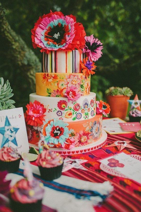 19 best Mexican Wedding Cakes images on Pinterest | Mexican fiesta ...
