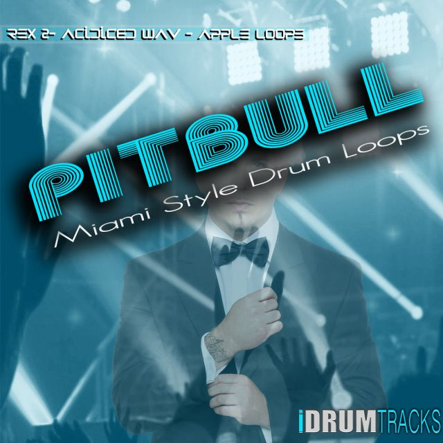 PitBull Miami Style Drum Loops and Samples  iDrumTracks presents it's latest production, Pitbull Miami Style Drum Loops & Samples. This collection was influenced by Miami style drums and recording artist, Pitbull. Upgrade your production studio library with this must-have arsenal of sounds for your next song or remix.  http://www.idrumtracks.com