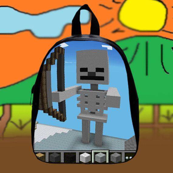 #Minecraft #Skeleton  Custom SchoolBags Backpack for by KopiHitam55