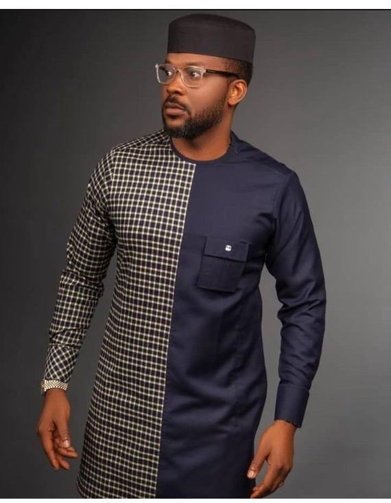 African wear African fashion for men African men/'s clothing Dashiki Senator wear men/'s kaftan Brown tailored suit