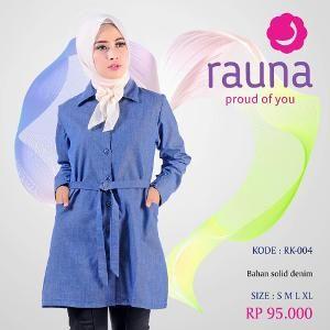 Blus Rauna Model RK-004 Biru