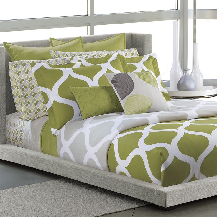 wonderful gray green bedroom bedding | 36 best images about Bedding on Pinterest | Galaxies, Lime ...
