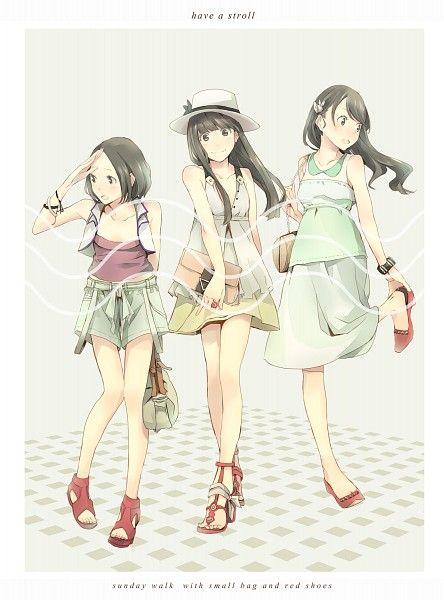 Tags: Anime, Band, High Heels, Sandals, Yoshito, Perfume (Band), Ayano Oumoto