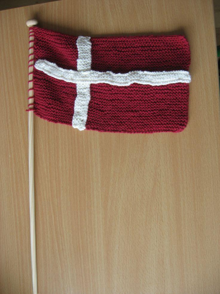 Homemade flag: Dannebrog