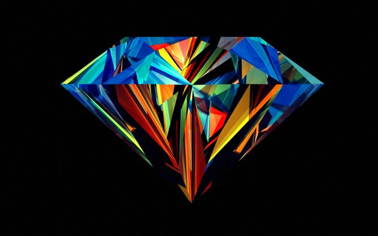 Make your screen shine bright like a diamond with this amazing wallpaper by Justin Maller: http://www.hdwallpapers.net/abstract/colorful-diamond-wallpaper-674.htm