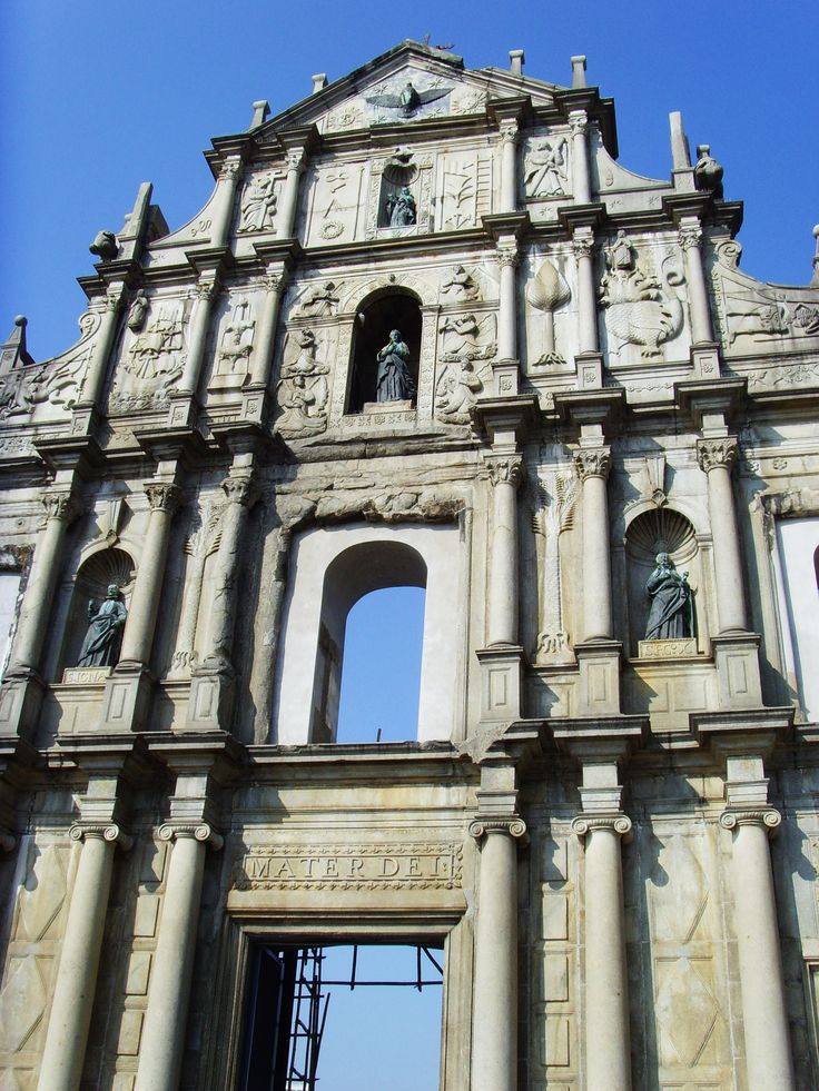 December 2009 - Sao Paulo at Macau, Hongkong. Ruins of St Paul's with only the front left, standing tall and straight. Incredible how it stood till now, and turned into an amazing structure of Macau.