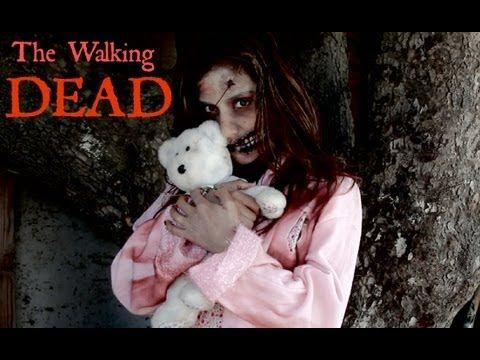 The Walking Dead Little Girl Zombie makeup tutorial for Halloween