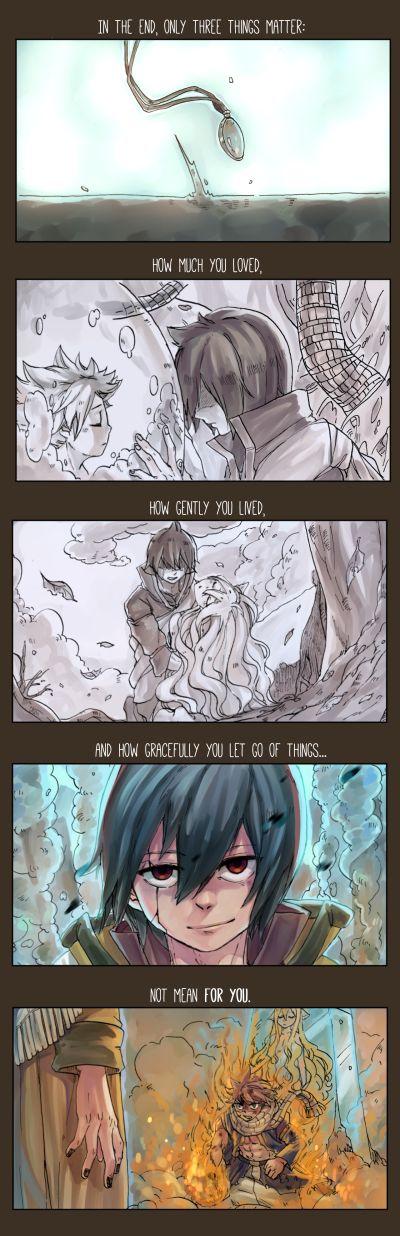 Zeref Mavis and Natsu dragneel fairy tail doujin