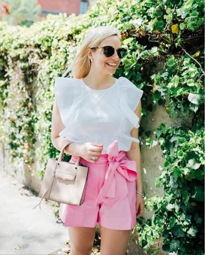 Ruffle top and bow shorts -Blush and Blooms