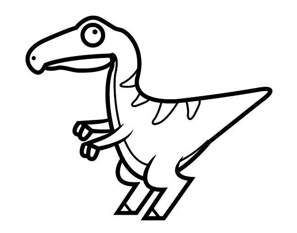 dibujo de velociraptor beb u00e9 para colorear