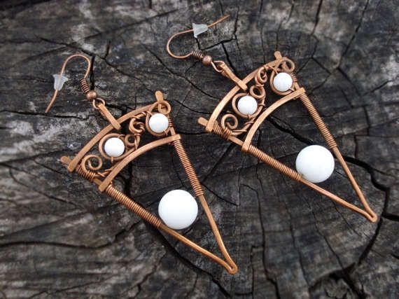 202 best Wire wrap earrings images on Pinterest | Wire earrings ...