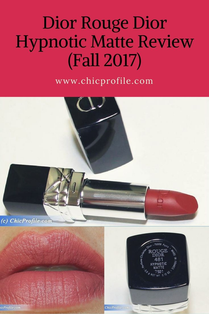 Dior Rouge Dior (481) Hypnotic Matte Couture Colour Lipstick ($35.00 / £27.50 for 3.5 g / 0.12 oz) is officially described as a a fervent rosewood. I see it as a medium rosy-brown with a soft semi-matte finish. It has a great pigmentation, being a rich and intense color.  via @Chicprofile