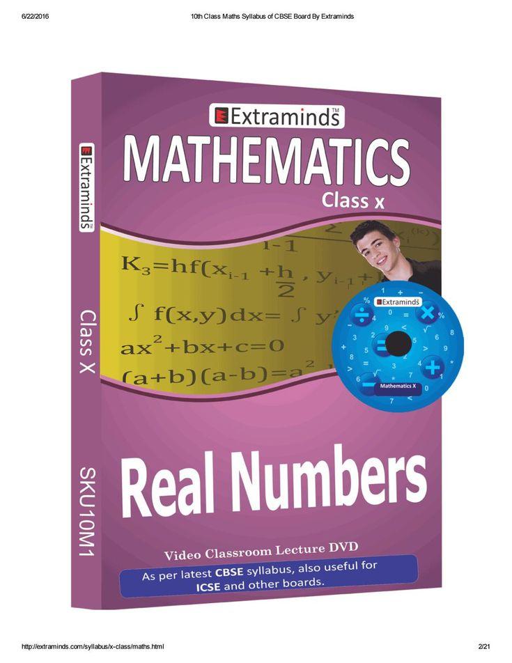 10th class maths syllabus