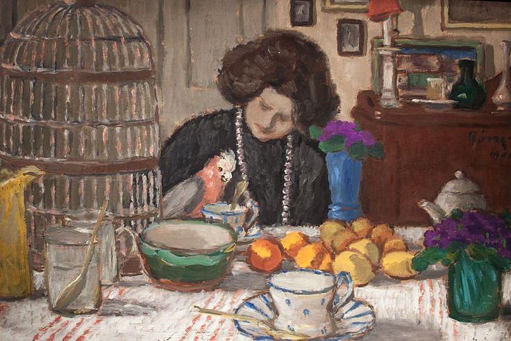 József Rippl-Rónai - Lazarine with a Parrot 1905