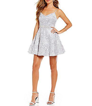 B Darlin Sequin Embellished Soutache Party Dress #Dillards