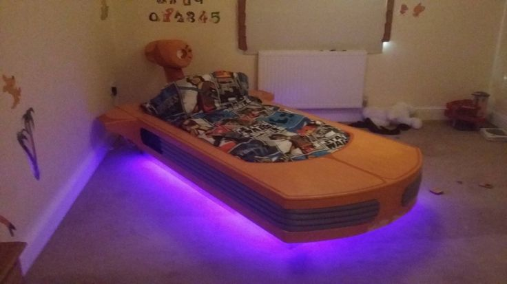 A better father than yours made his son an awesome Landspeeder bed from £100 of materials.