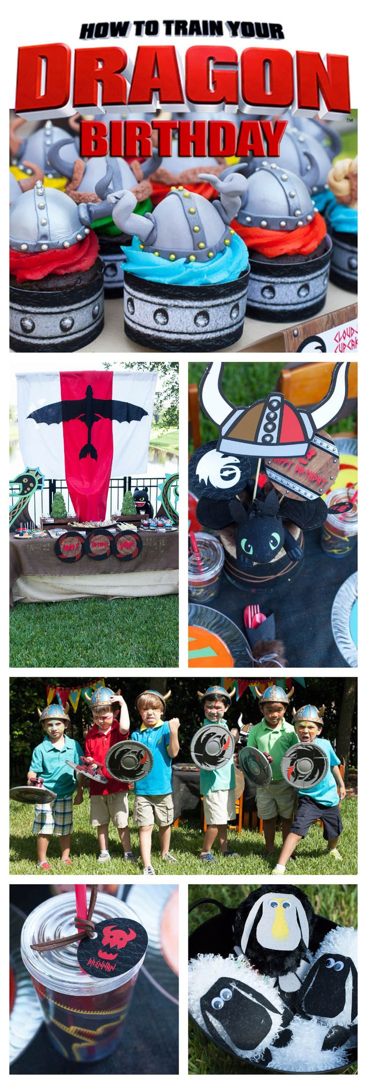 How to Train Your Dragon Birthday Party - Part II - Party Games! - Frog Prince Paperie