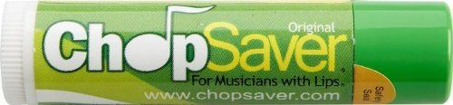 "CHOP CHOP Chop-Saver Lip Balm by CHOP. $3.85. ChopSaver - the ultimate all-natural solution for healthy lips! Invented by a professional trumpet player to address the lip care needs of brass and woodwind players, ChopSaver is now enjoyed by everyone. If you suffer from lips that are chapped, dry, swollen or irritated for any reason, look no further. ChopSaver lip balm is not just another ""chapstick"" - it is a comprehensive approach to total lip care.. Save 22%!"