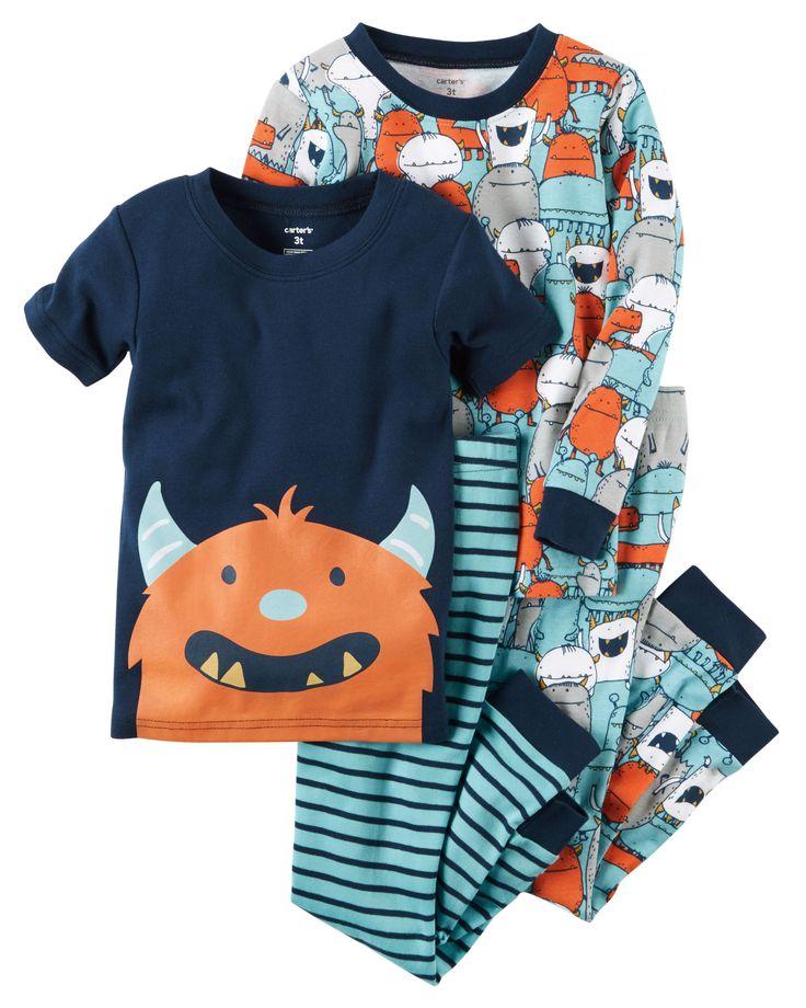 Kid Boy 4-Piece Snug Fit Cotton PJs | Carters.com