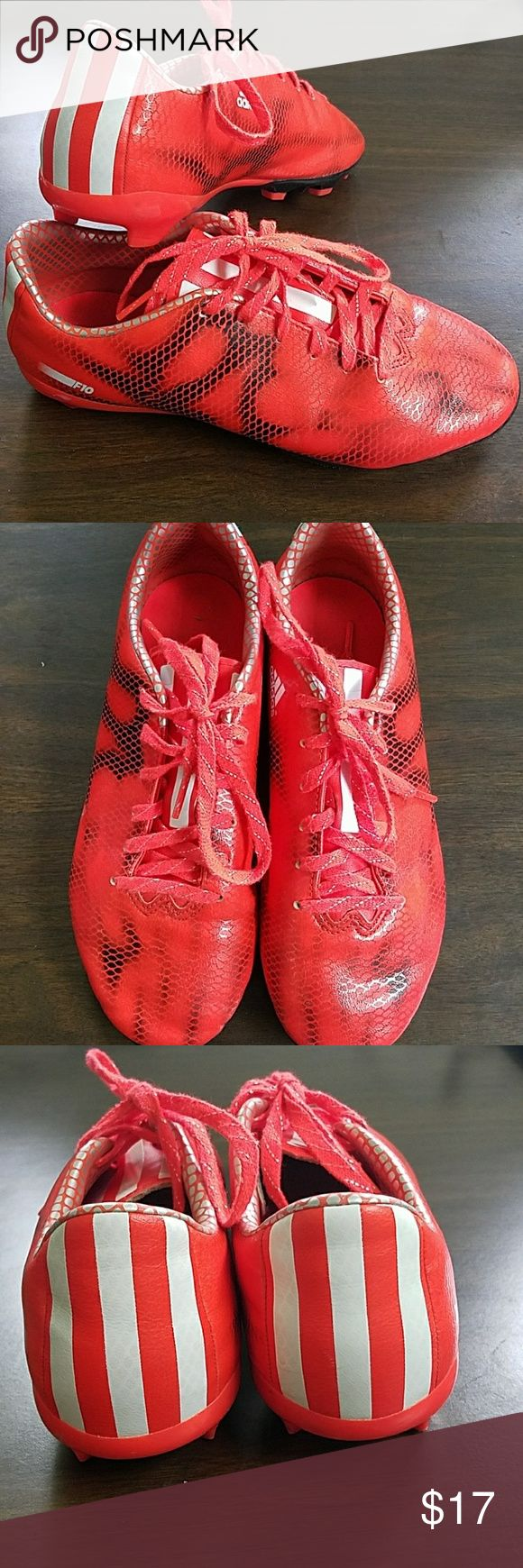 Adidas F10 soccer cleats youth size 5 and a half Make a statement on the soccer field with these bright orange soccer cleats!   used but in great condition, very clean and ready for the fall season! adidas Shoes