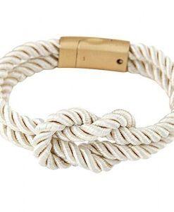 Bracelet noeud marin blanc