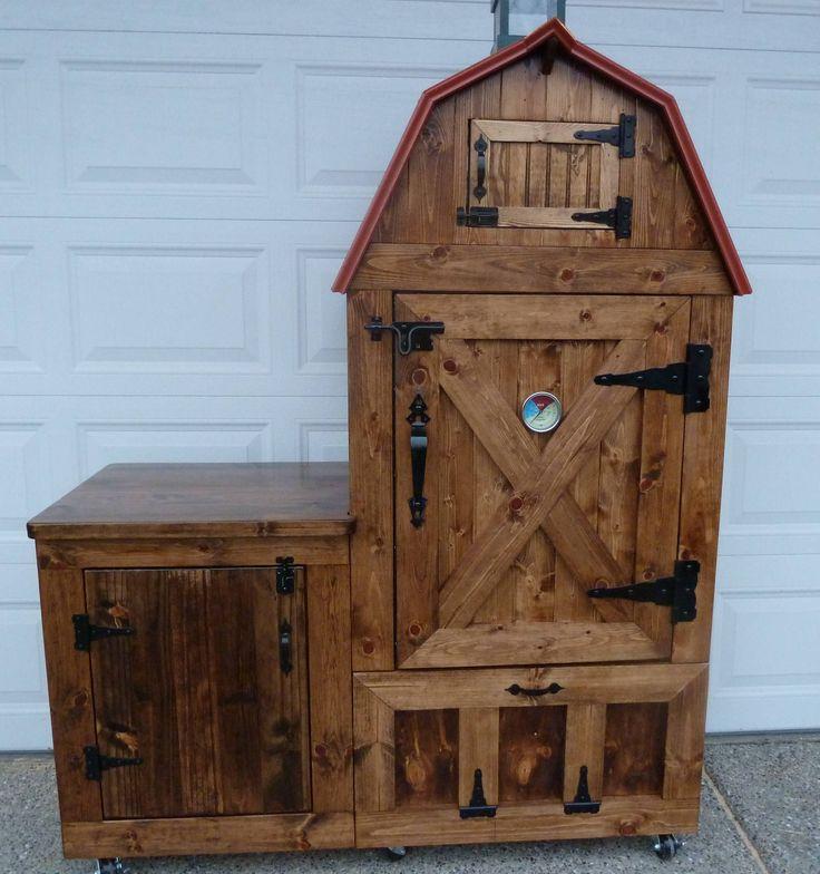 "Custom smoker design. ""The Pioneer Barn."""