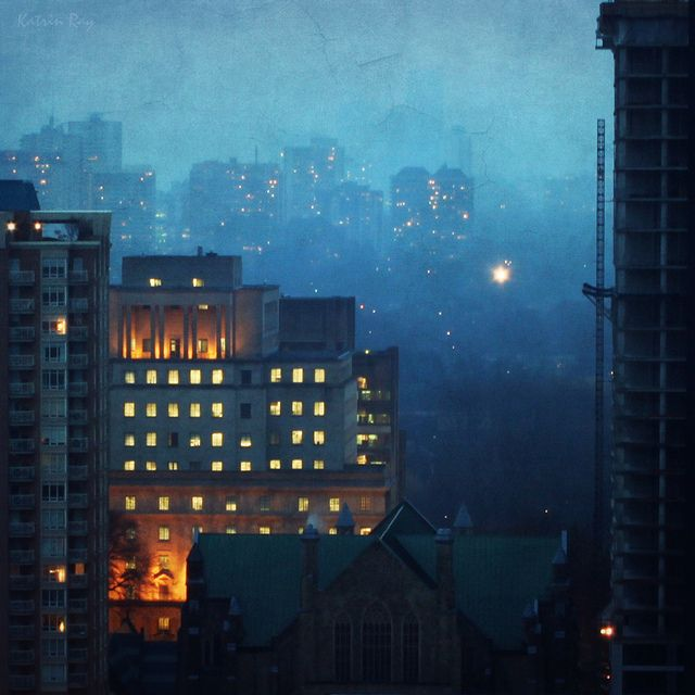 Katrin Shumakov: December, Toronto Mixed, Mixed Forests, Katrin Shumakov, Art, Night Cities, Blue Mists, Bi Katrin, Katrin Ray