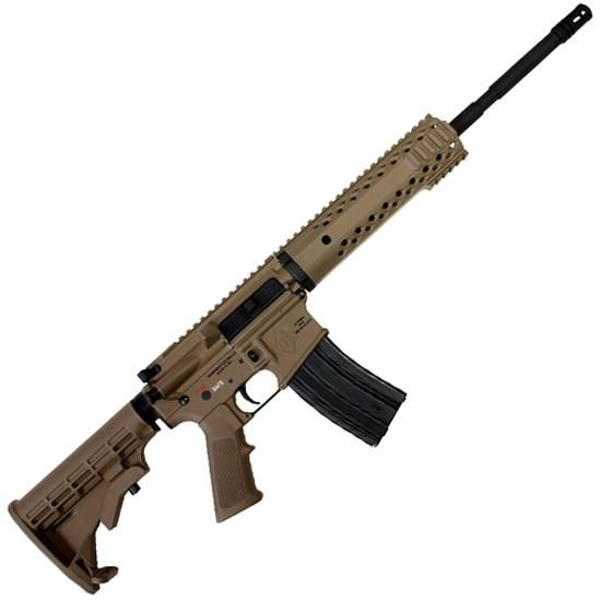 Diamondback AR-15 DB15 Semi Automatic Rifle 5.56 NATO 16 Barrel 30 Rounds ATI Strikeforce Stock Flat Dark Earth Black Metal Finish DB15FDE