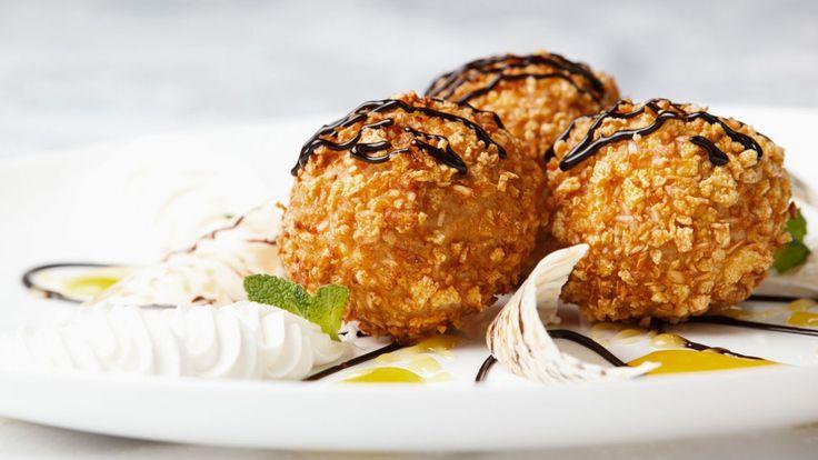Une recette de crème glacée frite présentée par un membre de Zeste.tv pour le concours Chocomania