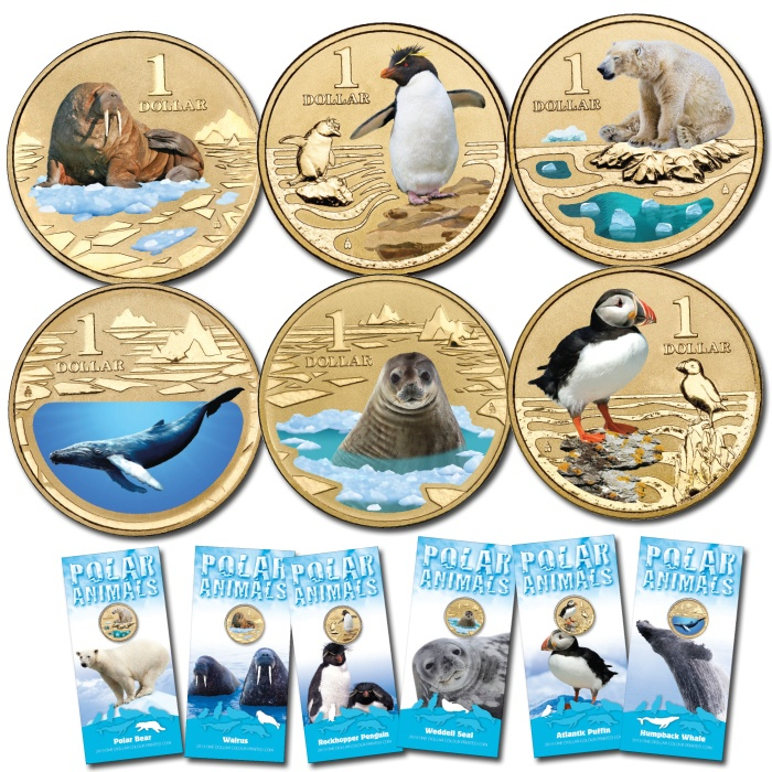2013 $1 Complete Polar Animals Collection Unc