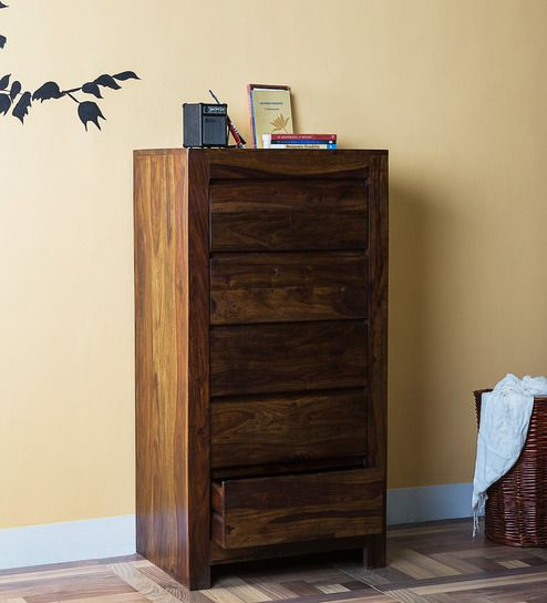 Malaga Solid Wood Chest of Drawers in Provincial Teak Finish by Woodsworth by Woodsworth Online - Contemporary - Furniture - Pepperfry Product