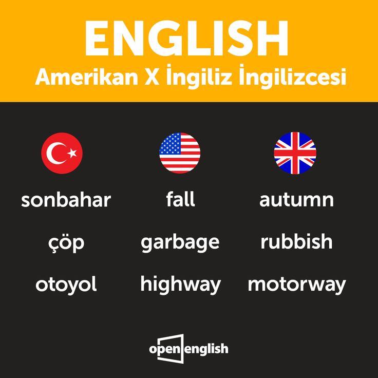Amerikan ve İngiliz İngilizcesindeki bazı farklı kelimelere göz atmak ister misin?