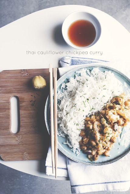 Mon petit bistrot: Riso thai, curry di cavolfiore e ceci