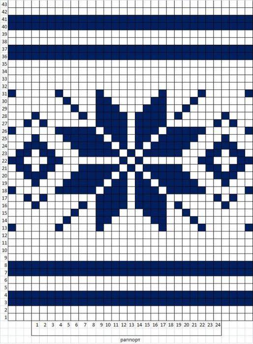 вязание, схемы вязания спицами норвежских узоров