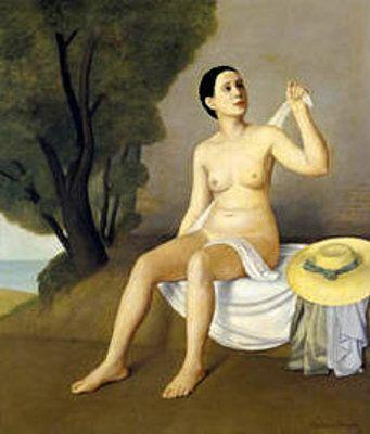 """Antonio Donghi (1897-1963) : """"Bagnante (Bather) """""""