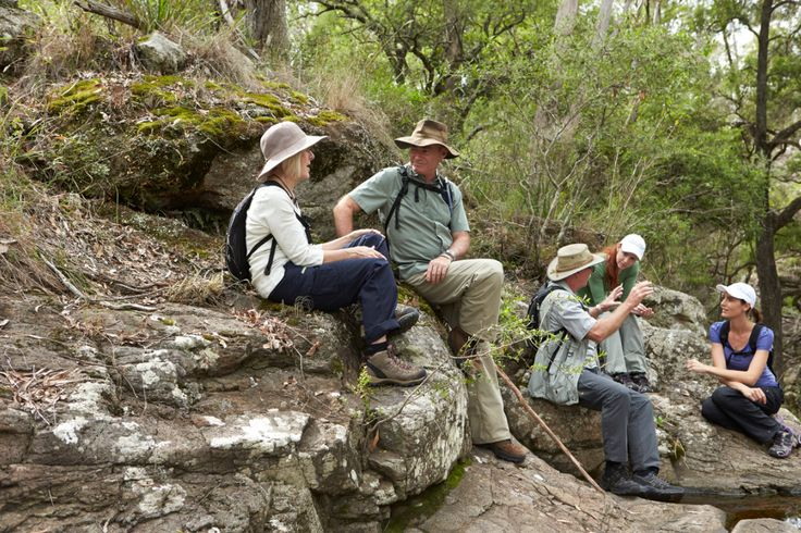 Relaxing on the rocks - Spicers Scenic Rim Trail