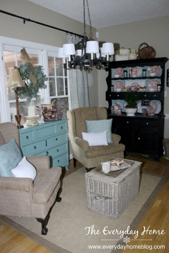 Awesome Creating A Cozy Sitting Area From Another Space For Virtually Free, Home  Decor, Living Room Ideas, Painted Furniture, A French Wicker Trunk Acts As A  Coffee ...