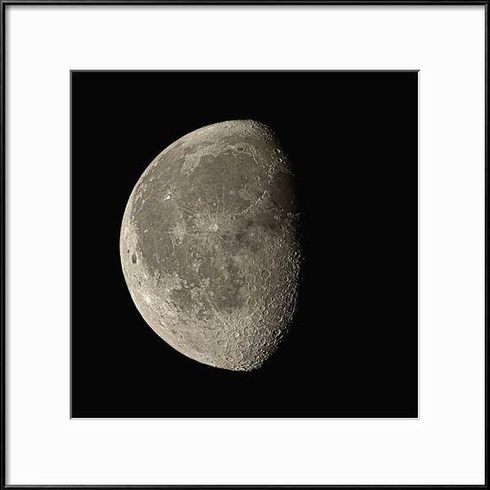 Waning Gibbous Moon Photographic Print by Eckhard Slawik at Art.com