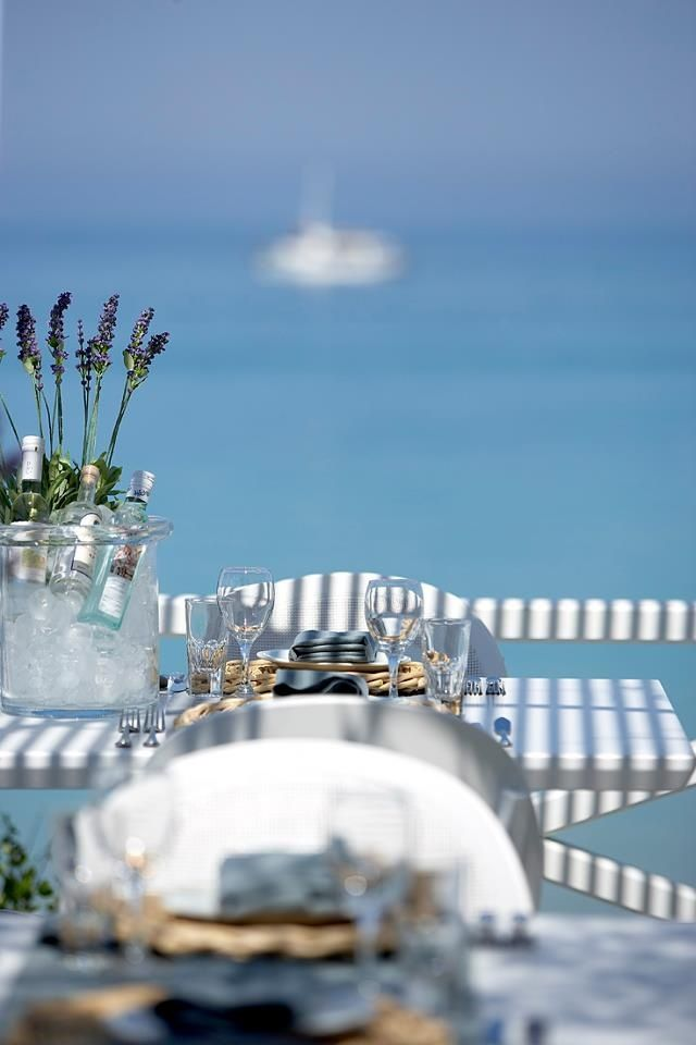 Table for two by the sea in Santorini