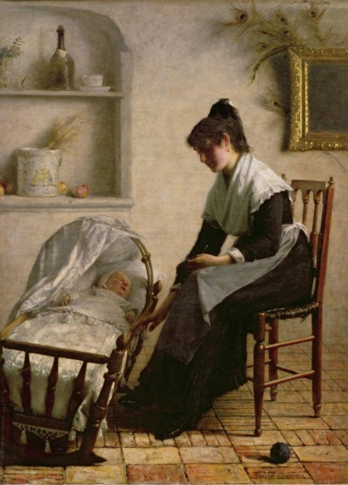 Мама с колыбелью картинки