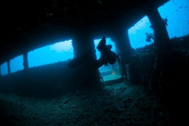 Underwater - Haven wreck - Arenzano - Liguria - Italy