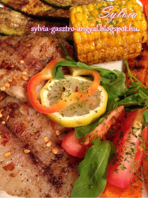 Sylvia Gasztro Angyal: Fűszeres pangasius filé grillezett répával, cukkinivel és…