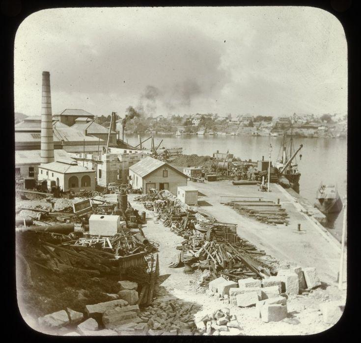 Dockyard,Cockatoo Island,in Sydney in c1910.Photo from Dictionary of Sydney.A♥W