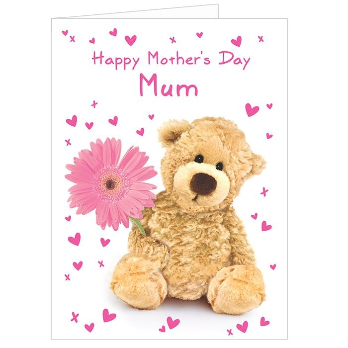 Teddy Flower Card Personalise this Teddy Flower Card with a name or role on the front.  £2.50 Free UK Delivery