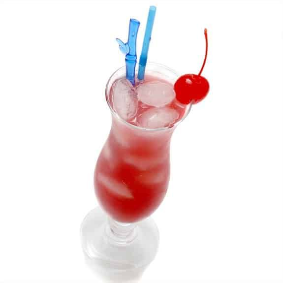 Hot passion cocktail.Vodka based alcoholic mixed drink.