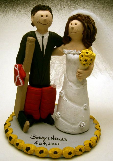 stanley cup wedding cake topper goalies wedding cake topper hockey wedding cake toppers 20489
