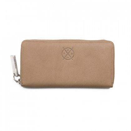STITCH & HIDE Christina Womens Leather Wallet Dusty Linen