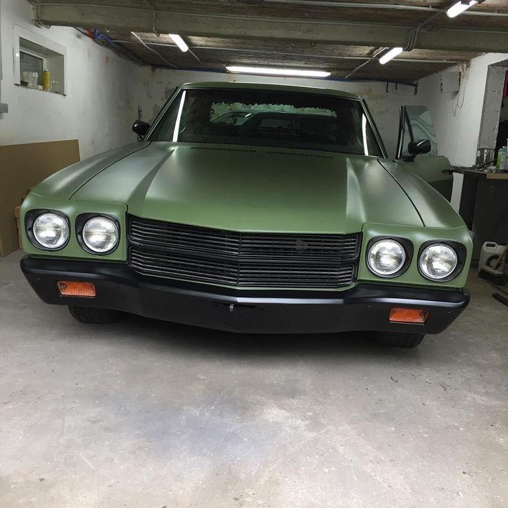 70 Chevelle Army Green Black Bumper Chevelle Non Stock