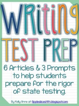 Are you looking for a simple way to review for the state test? Included in this freebie are 6 articles and 3 writing prompts to properly prepare your students for the rigor of writing on demand!   This freebie can be used for homework, small group work, or just classwork. All you have to do it print it and pass it out- all the hard work is done for you!